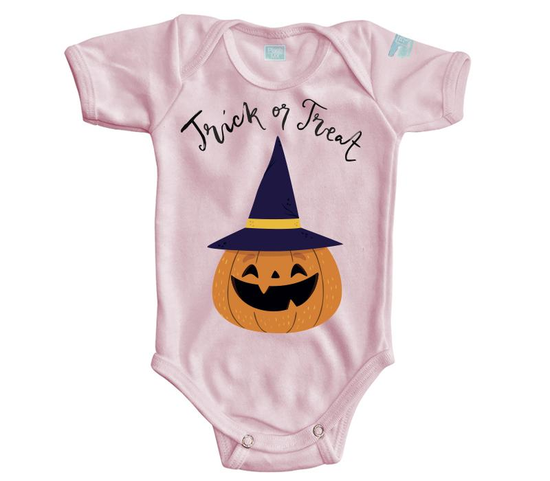 Body Bebe Trick or Treat Pañalero Manga Corta / Rosa / 0m
