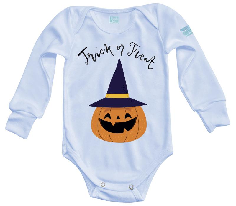 Body Bebe Trick or Treat Pañalero Manga Larga / Azul / 0m