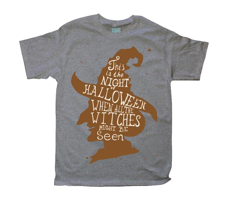 Playera para Caballero Witches Playeras Caballero Gris / CH