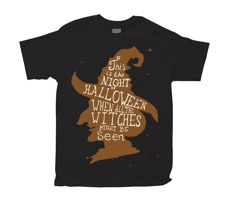 Playera para Caballero Witches Playeras Caballero Negro / CH