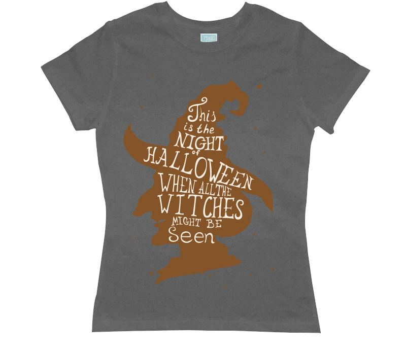 Playera para Dama Witches Playeras Dama Gris / CH