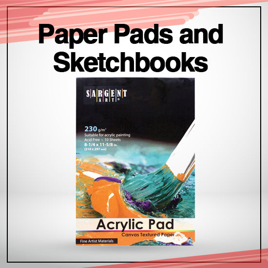 paper pads and sketchpads