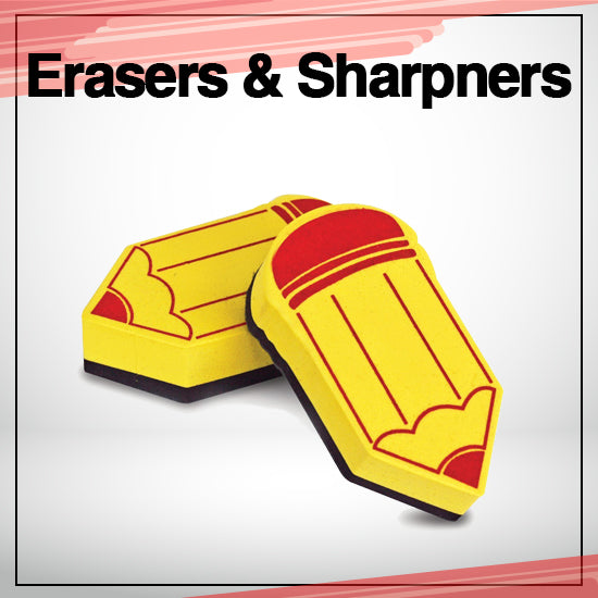 erasers and sharpners
