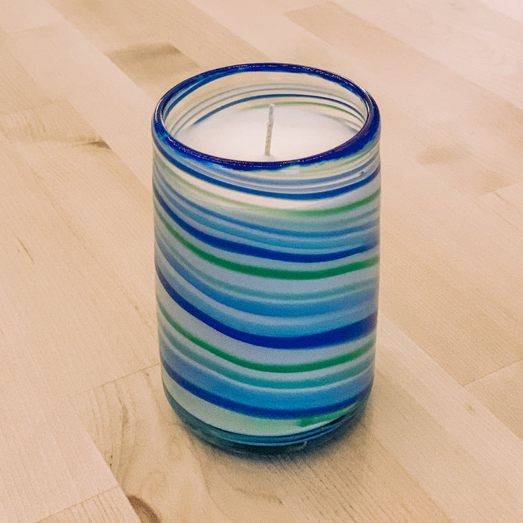 Winter Glass Candle