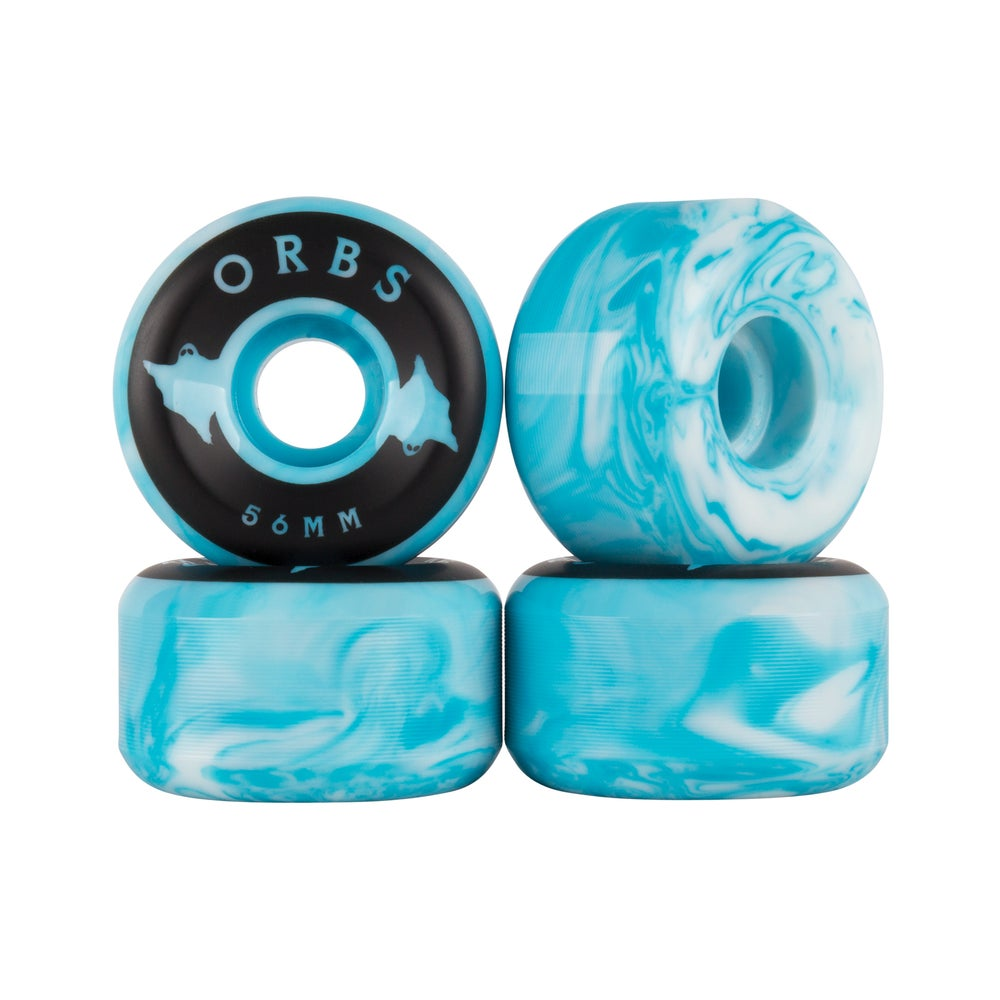 Orbs Wheels Specters Swirls Blue 56 MM