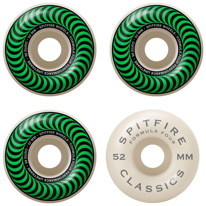 Spitfire Classic Formula Four  Wheels - 52mm