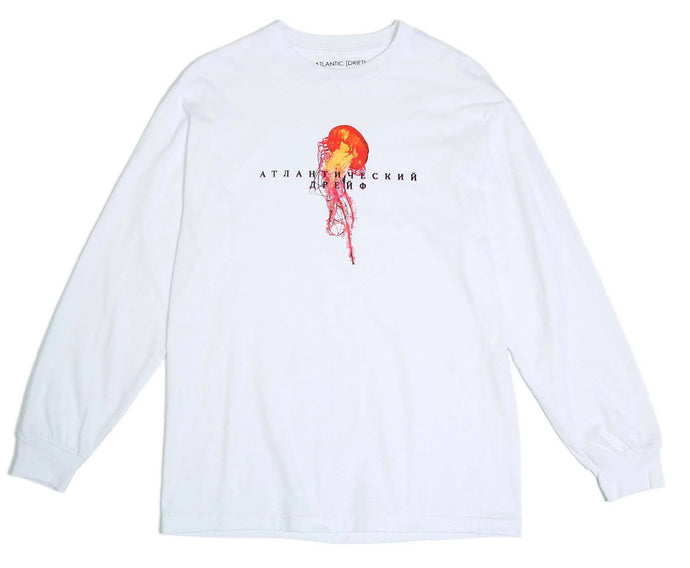 Atlantic Drift Mockba Jelly L/S T-Shirt White