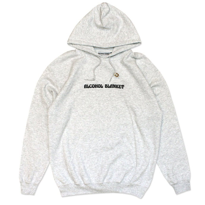 Alcohol Blanket Logo Hood Ash Grey