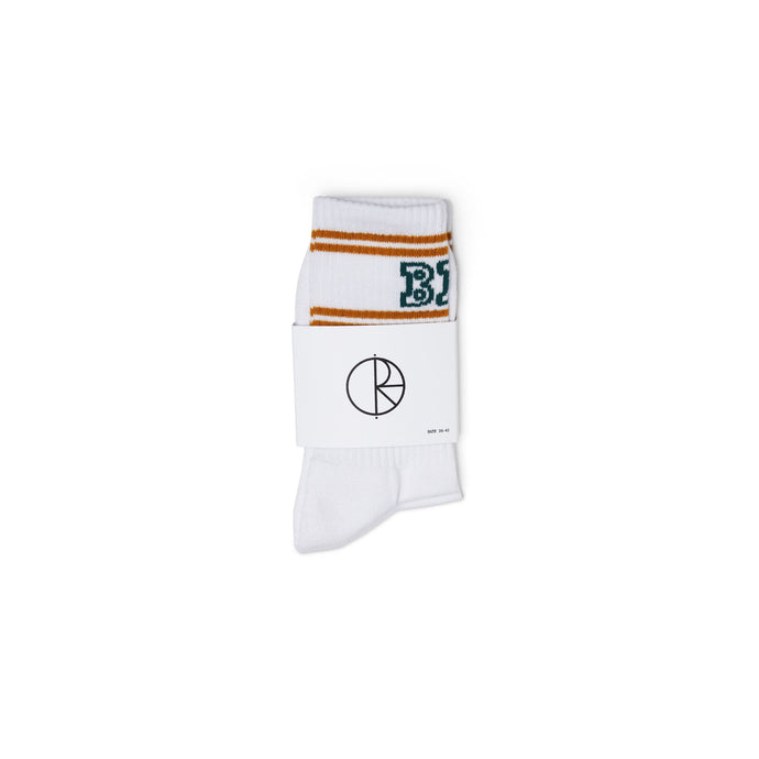 Polar Skate Co. Big Boy Socks White/Teal/Orange