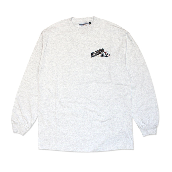 Alcohol Blanket Bowling LS T-Shirt Ash Grey