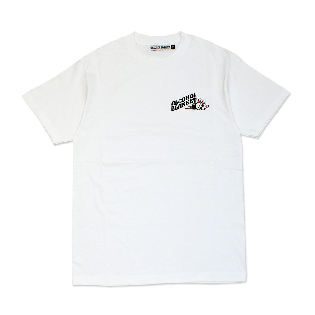 Alcohol Blanket Bowling T-Shirt White