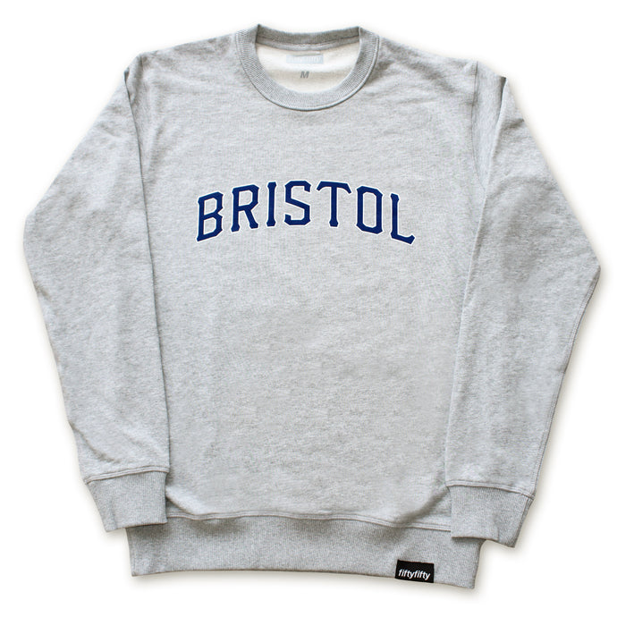 Fifty Fifty Bristol Premium Crew Heather Grey