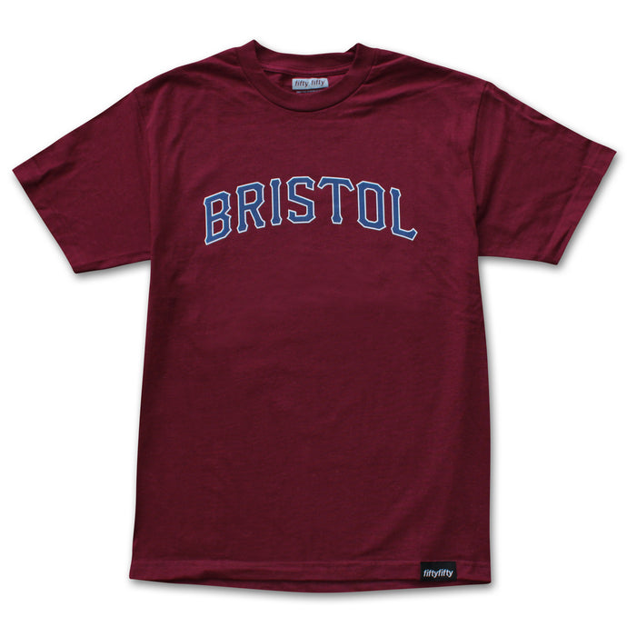 Fifty Fifty Bristol T-Shirt Burgundy