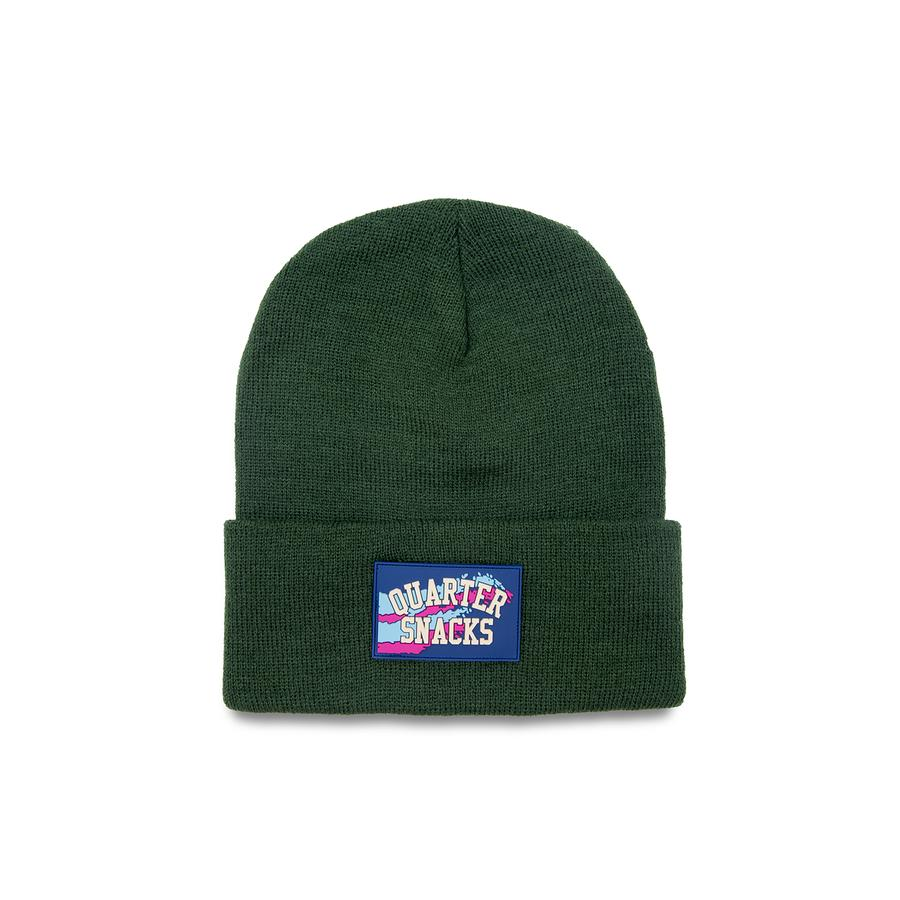 Quartersnacks Rubber Label Beanie Forrest Green