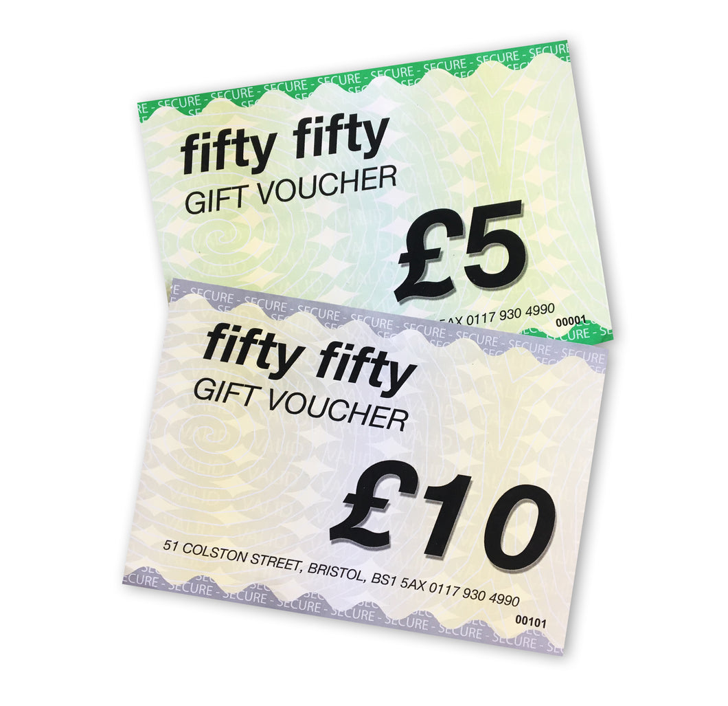 Fifty Fifty £5 Gift Voucher