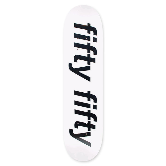 Fifty Fifty Trademark Deck White / Black 8.5