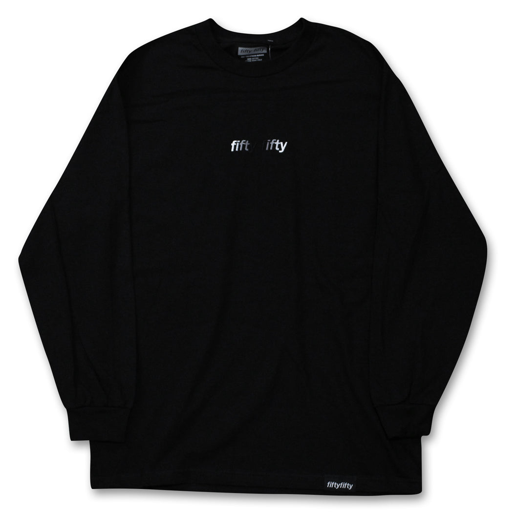 Fifty Fifty Gradient L/S T-Shirt Black