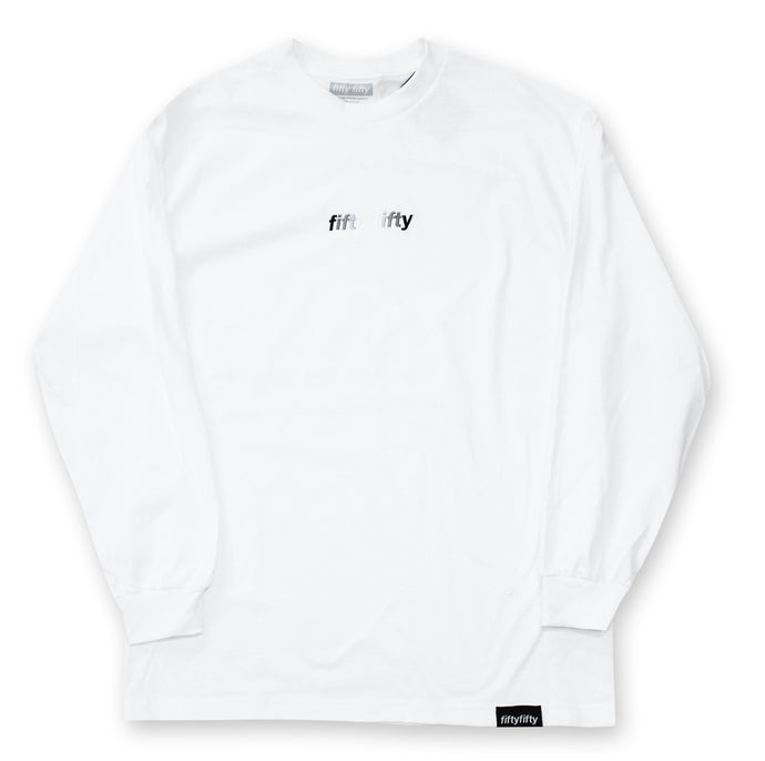 Fifty Fifty Gradient L/S T-Shirt White