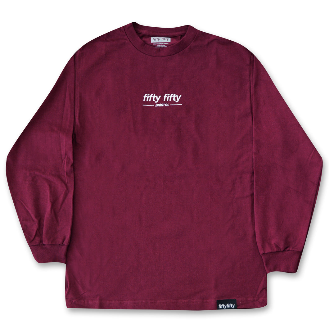 Fifty Fifty Bristol LS T-Shirt Burgundy