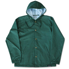 Fifty Fifty Outline Hooded Coach Jacket Forest Green