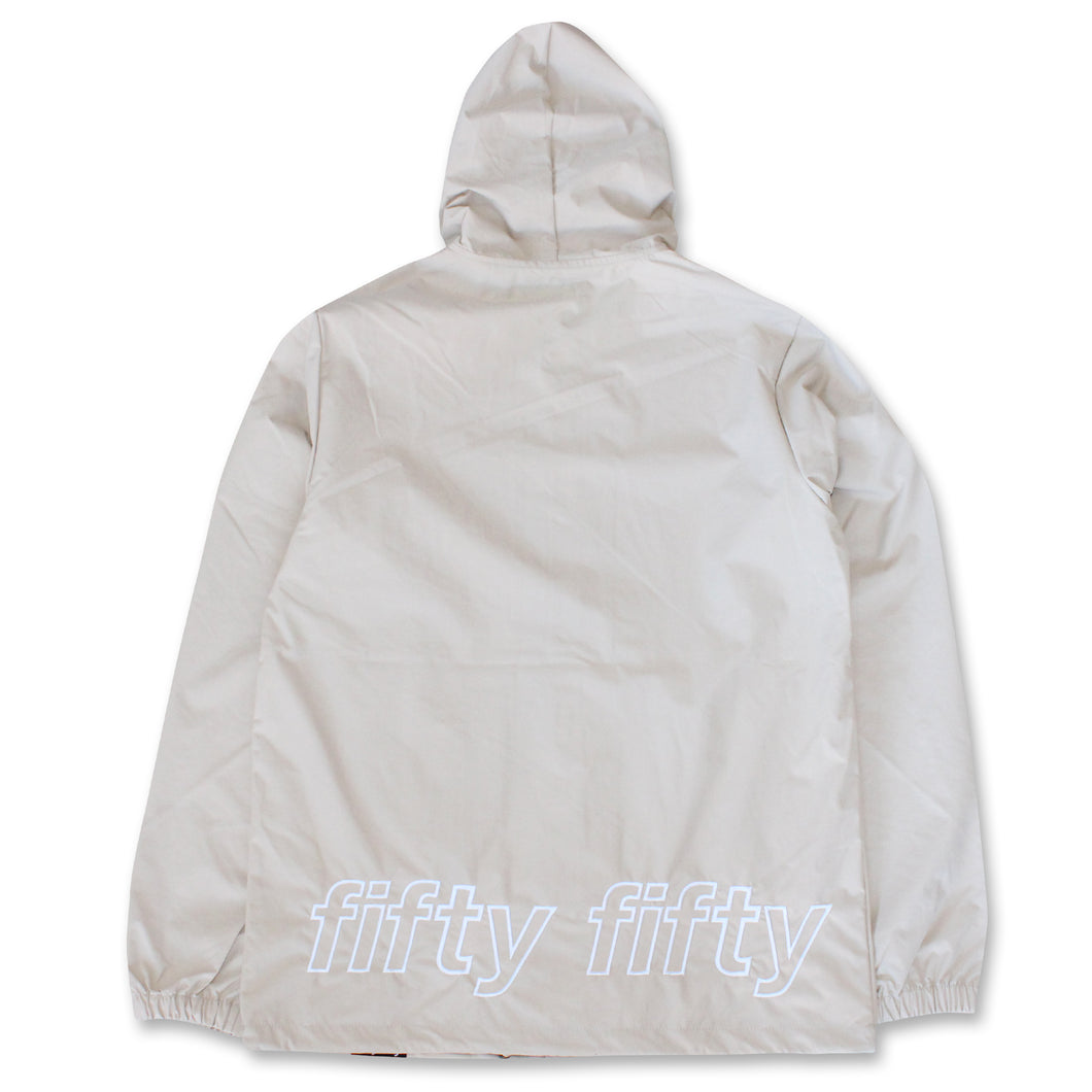 Fifty Fifty Outline Hooded Coach Jacket Khaki