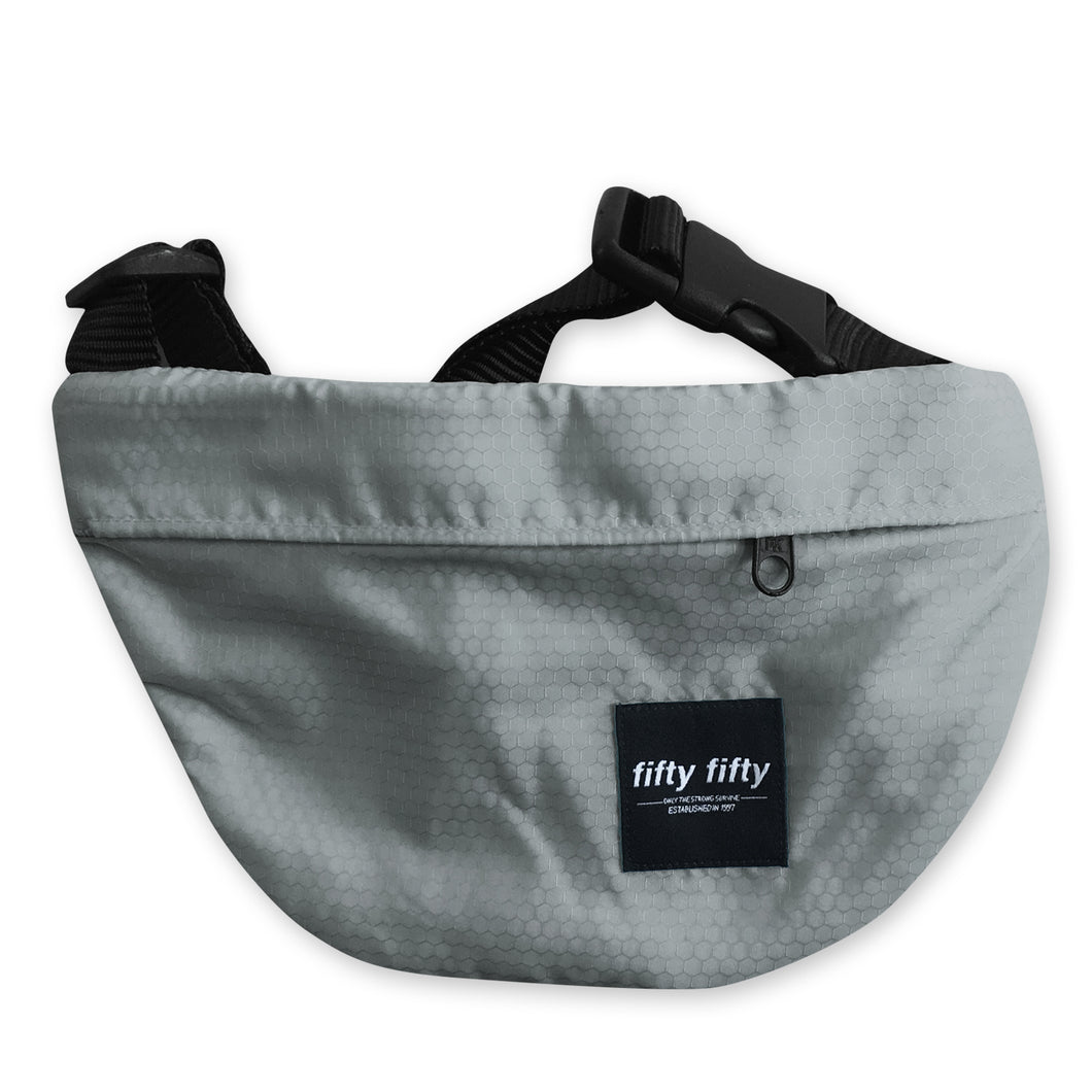 Fifty Fifty Hip Bag Grey Octagonal Ripstock