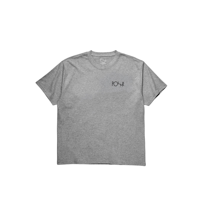 Polar Skate Co Fill Logo T-Shirt Heather Grey
