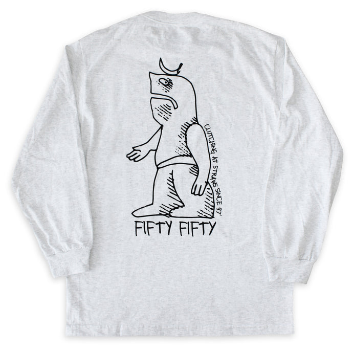 Fifty Fifty Gonz L/S T-Shirt Ash Heather