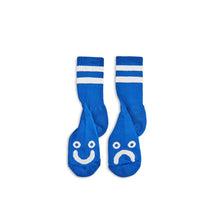 Polar Skate Co Happy Sad Socks Blue