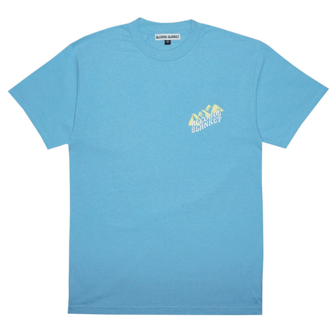Alcohol Blanket Mountain T-Shirt Blue
