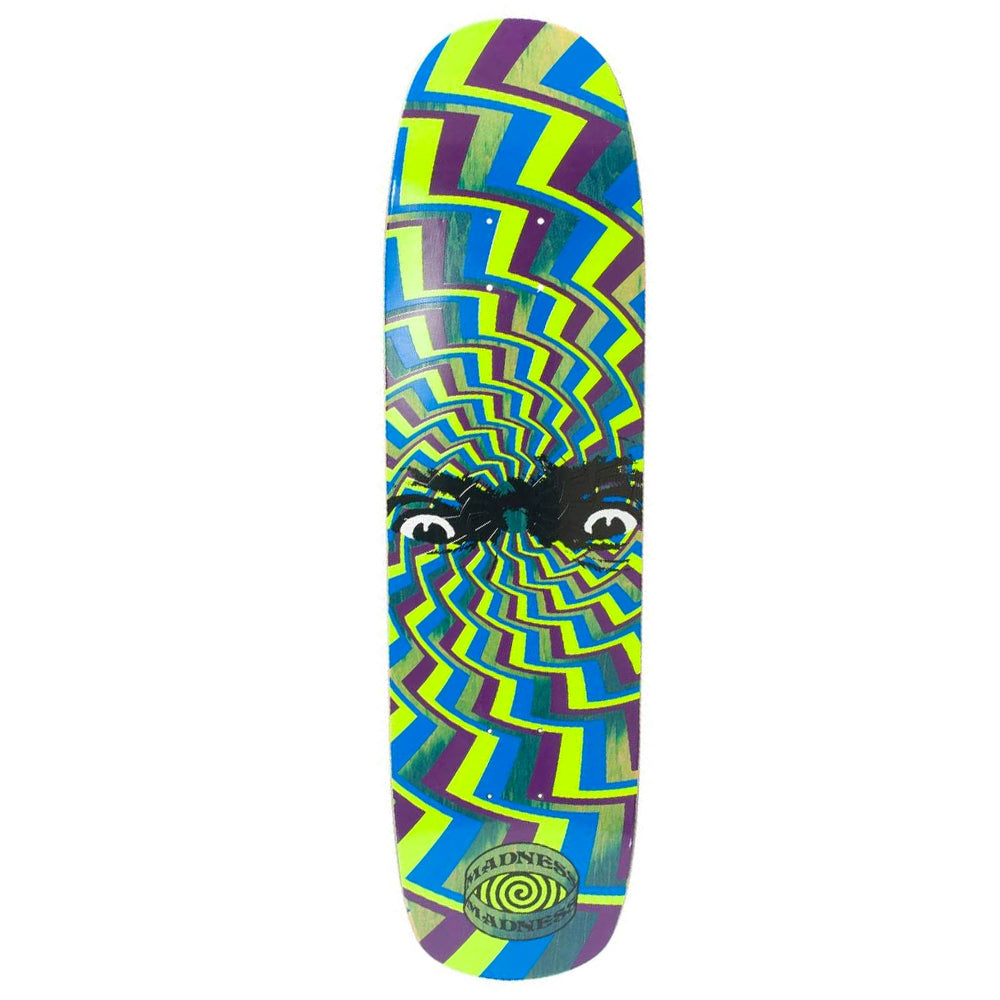 Madness Skateboards Spun Out R7 Green Skateboard Deck 8.375