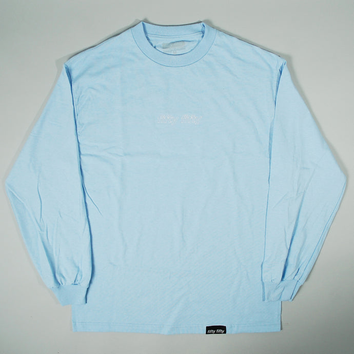 Fifty Fifty Outline LS T-Shirt Powder Blue