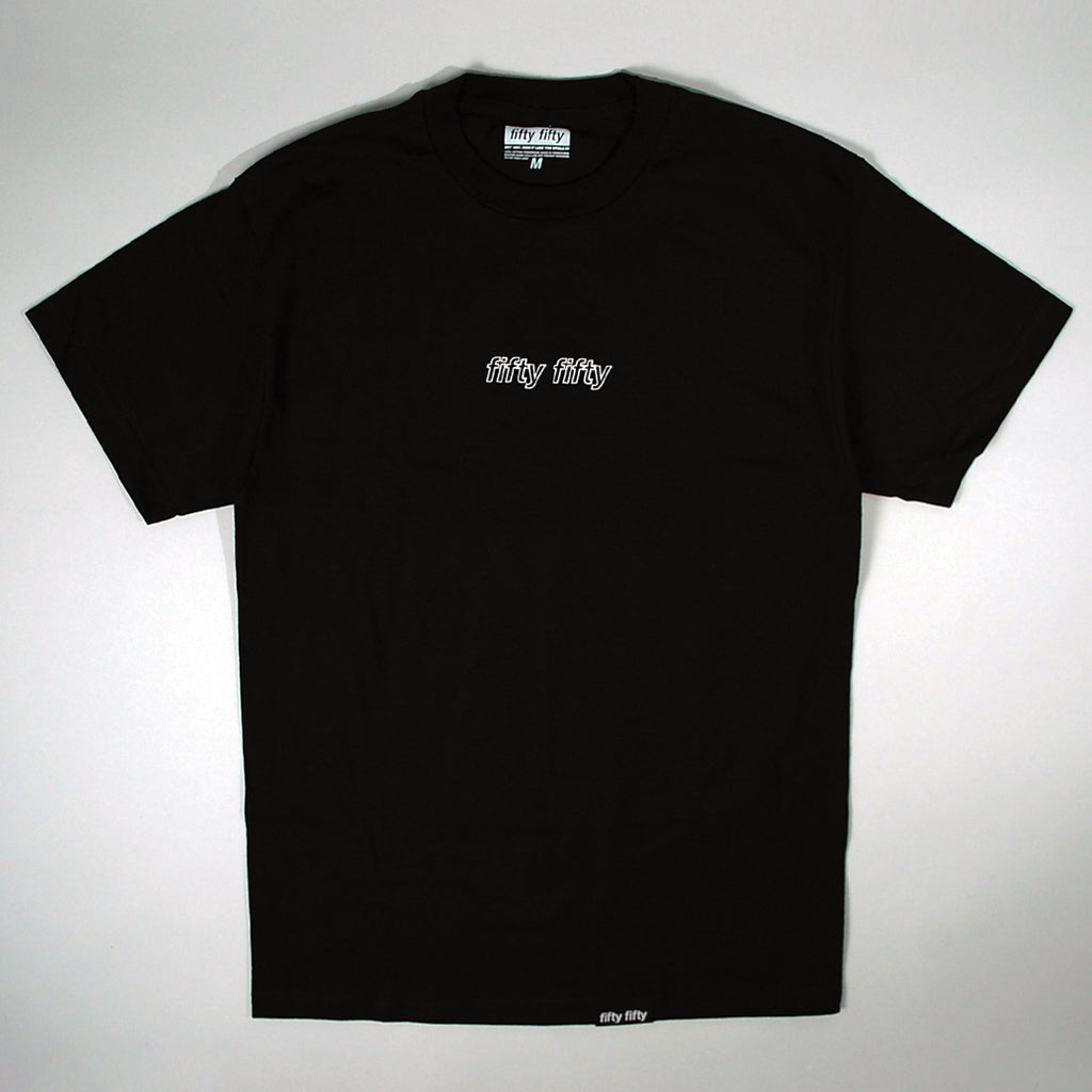 Fifty Fifty Outline T-Shirt Black
