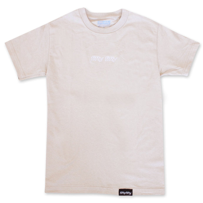Fifty Fifty Outline T-Shirt Sand