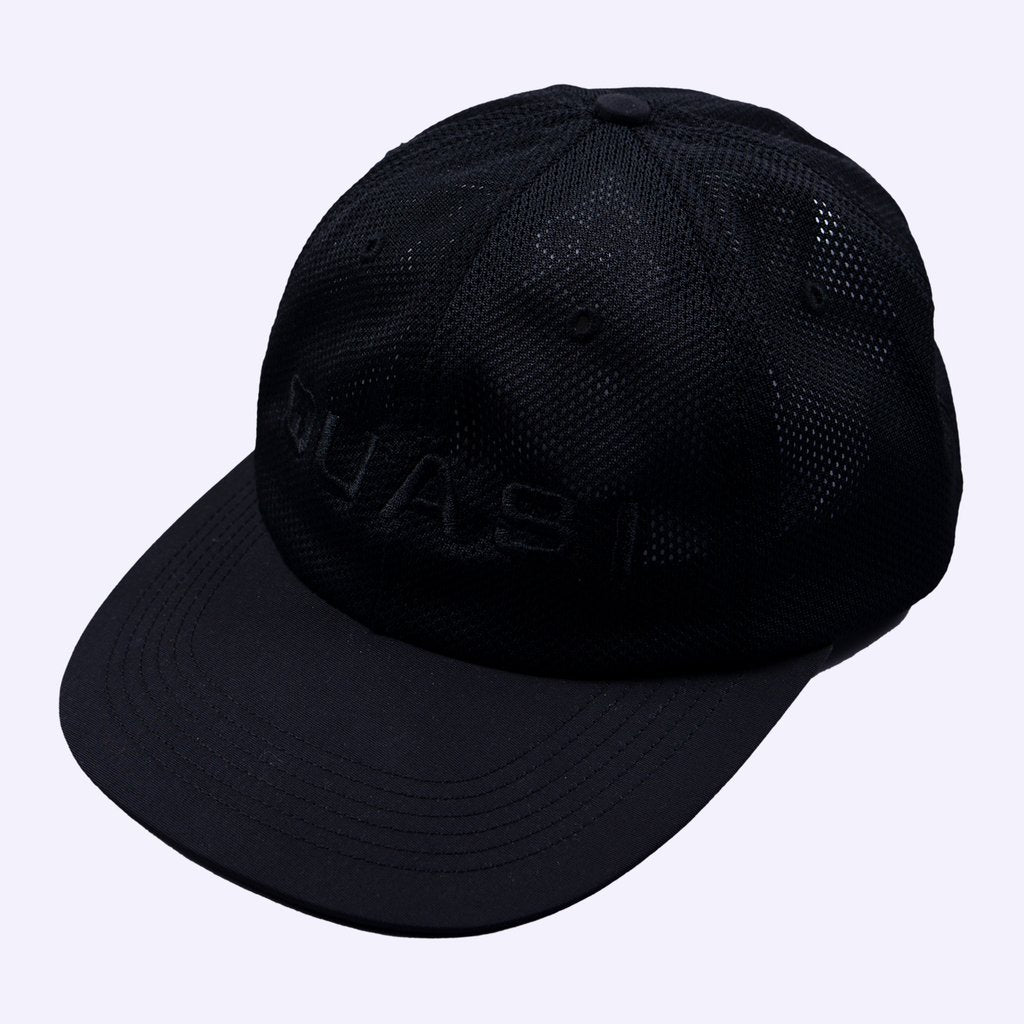 Quasi Perf 6 Panel Cap Black