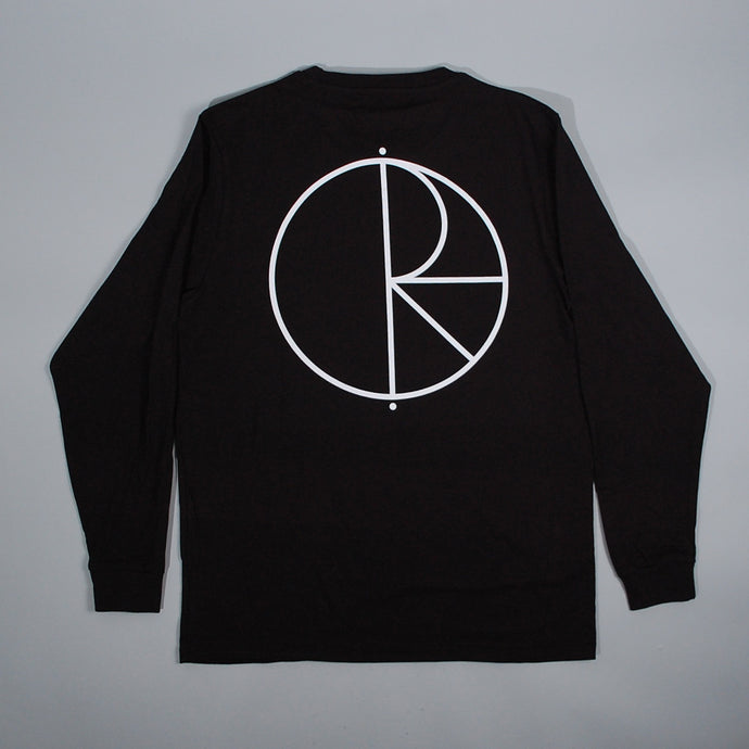 Polar Skate Co Stroke Logo Longsleeve T-Shirt Black