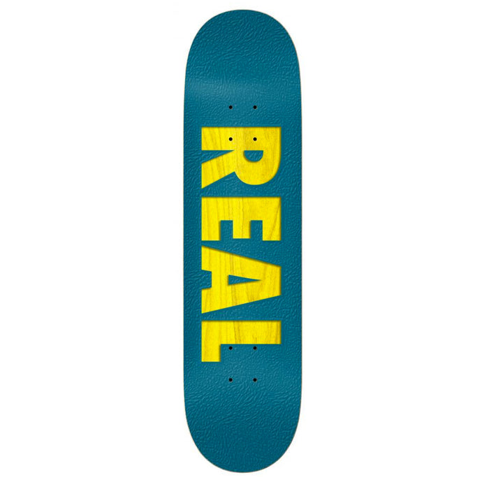 Real Skateboards Bold Series Deck Blue / Assorted Wood Stain 8.25