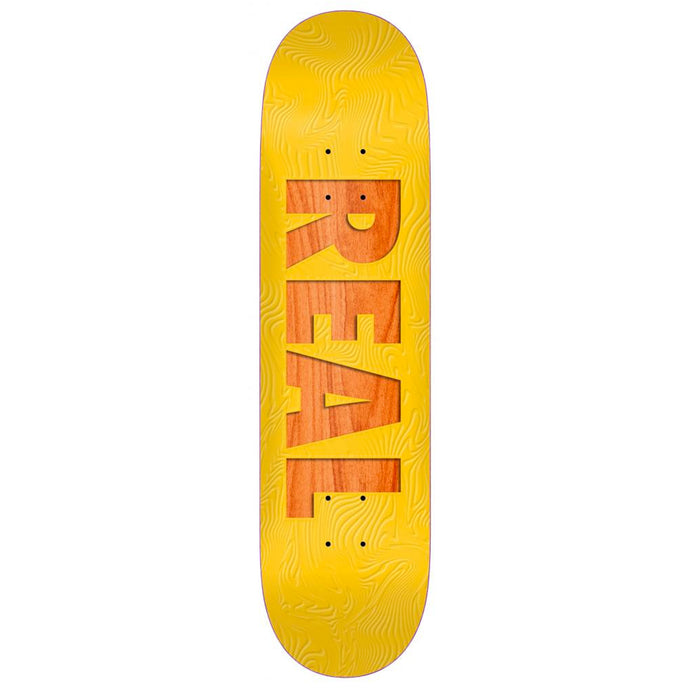 Real Skateboards Bold Series Deck Yellow / Assorted Wood Stain 8.06