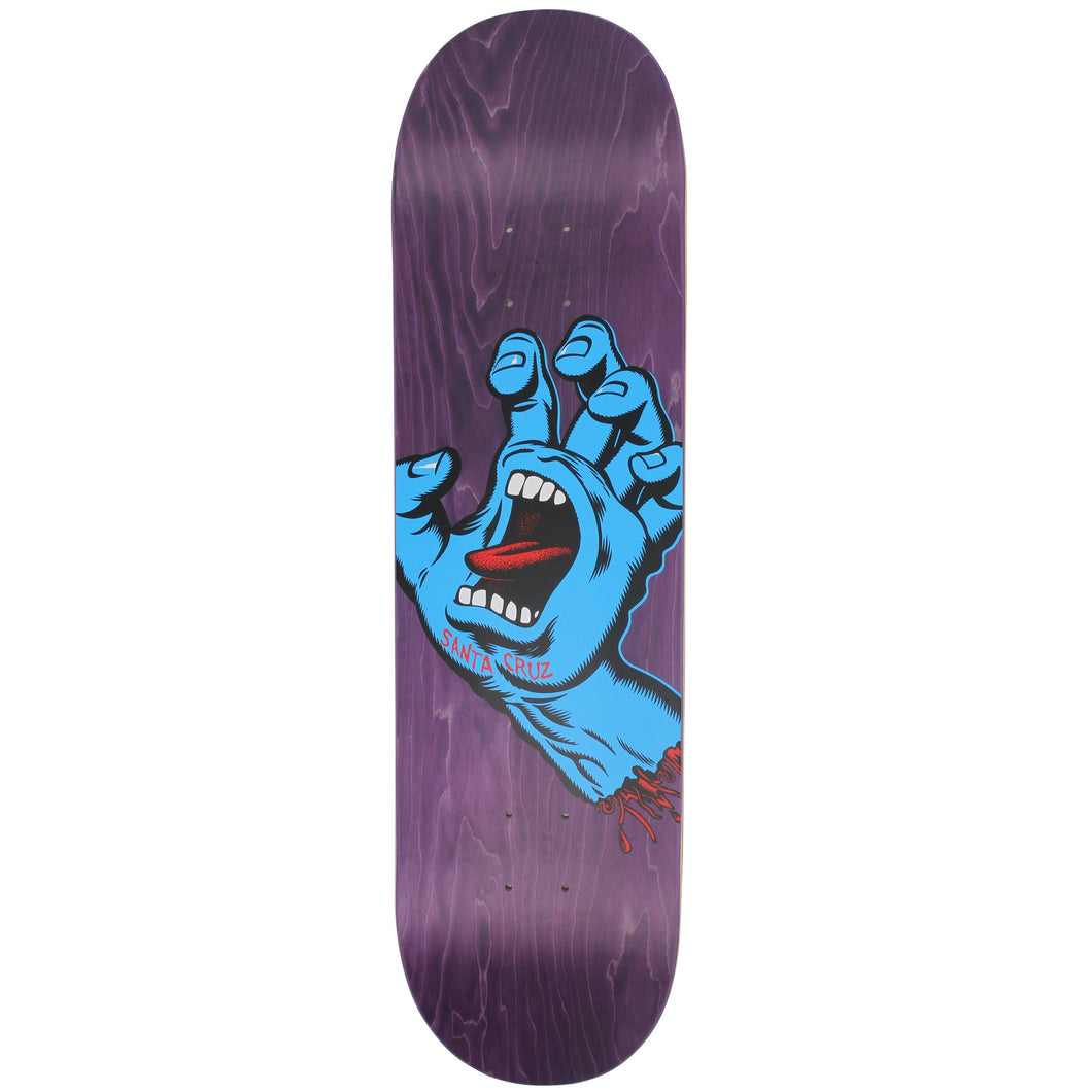 Santa Cruz Screaming Hand Deck Purple 8.375