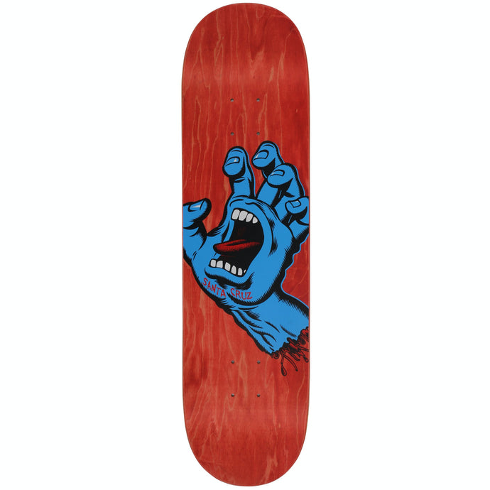 Santa Cruz Screaming Hand Deck Red 8