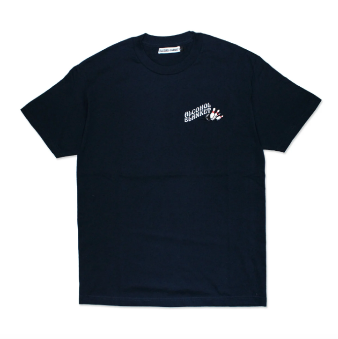 Alcohol Blanket Bowling T-Shirt Navy