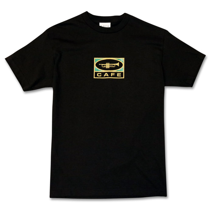 Skateboard Cafe Trumpet Logo T-Shirt Black