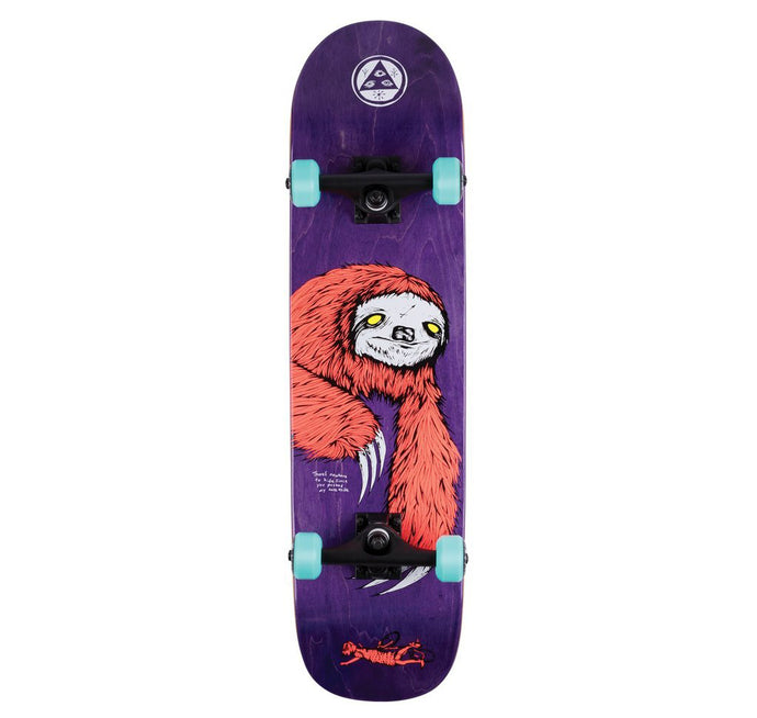 "Welcome Skateboards Sloth Complete 8"" Deck Purple"
