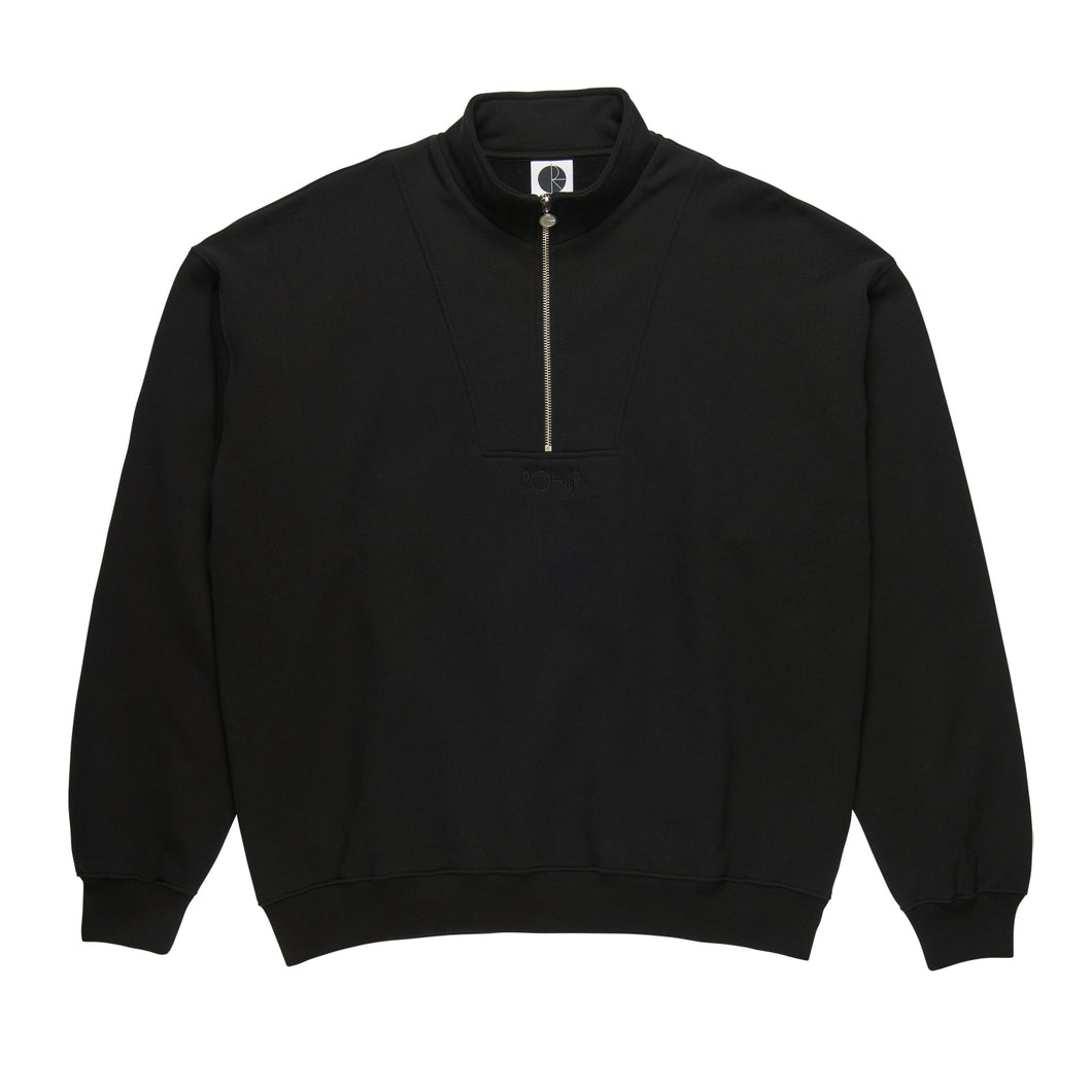 Polar Skate Co Zip Neck Sweat Black