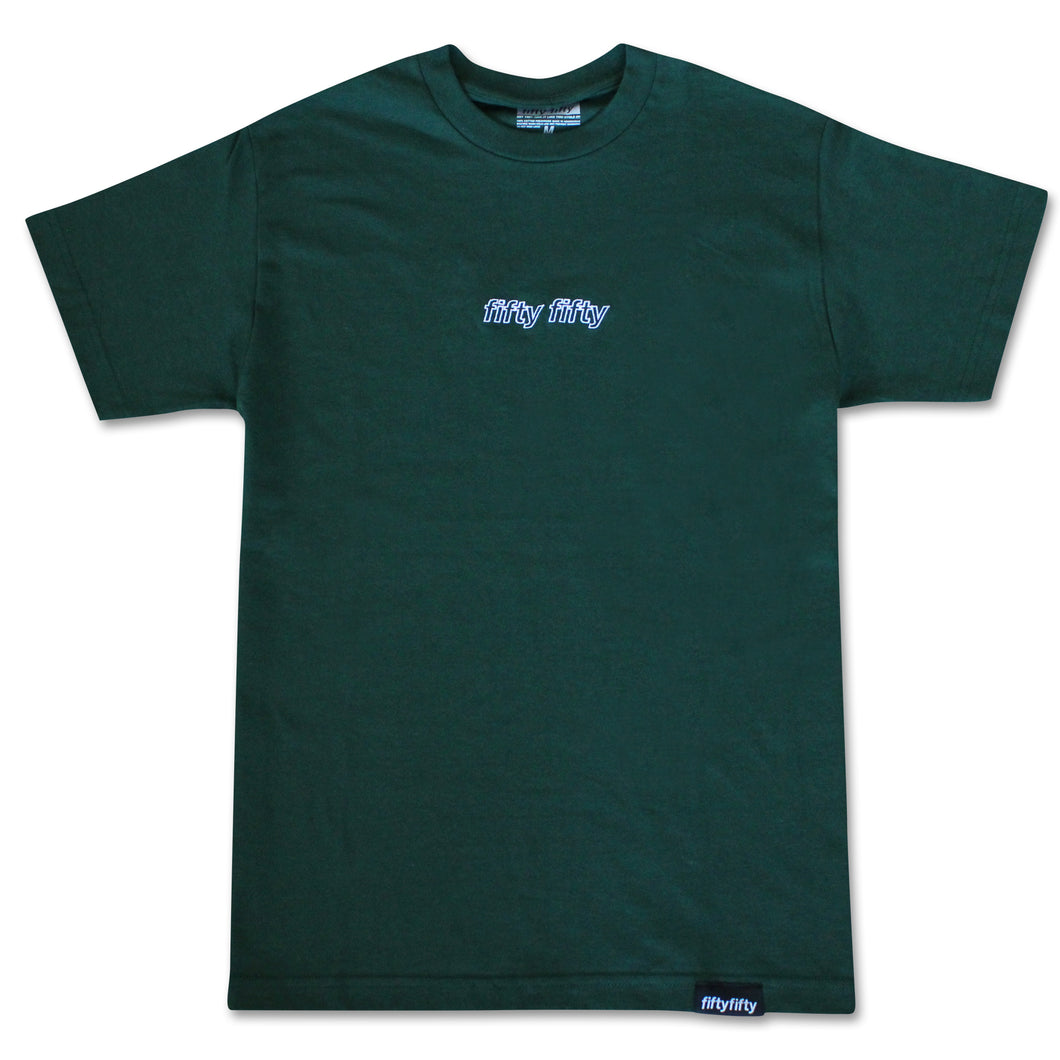 Fifty Fifty Outline T-Shirt Forest Green