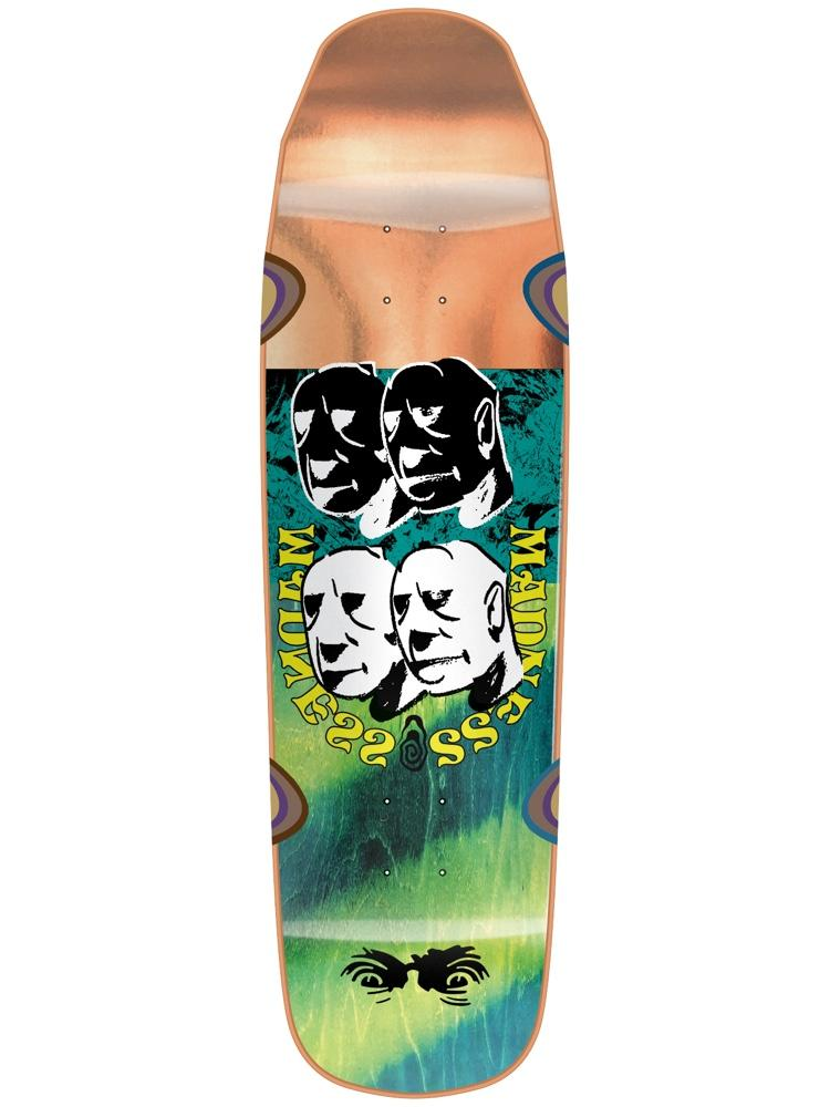 Madness Skateboards Bloc Head R7 Bronze Deck 9""