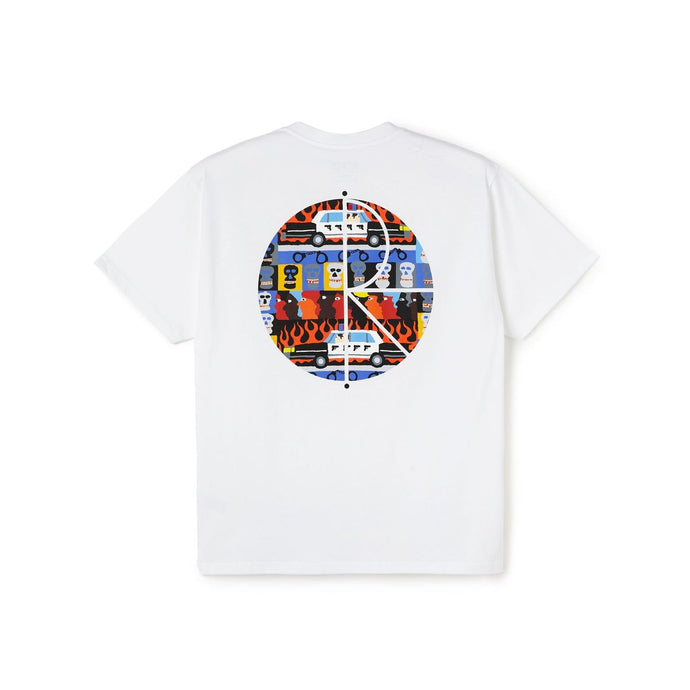 Polar Skate Co. ACAB Fill Logo Tee White