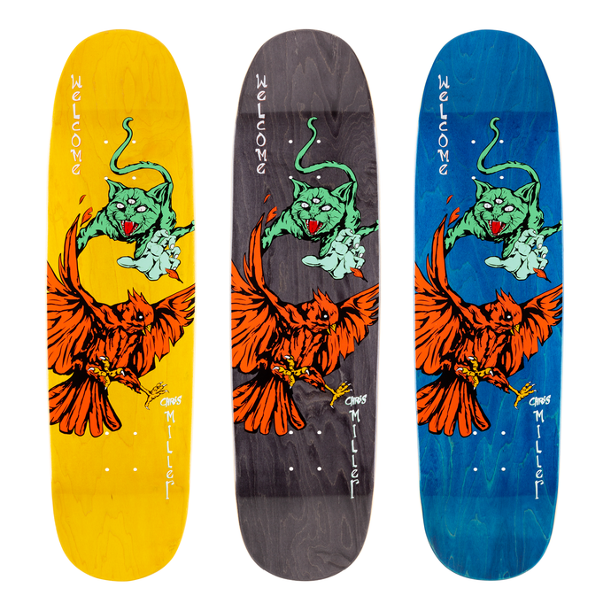 Welcome Chris Miller Prequel Pro Model on Catblood Deck Various Stains 8.75
