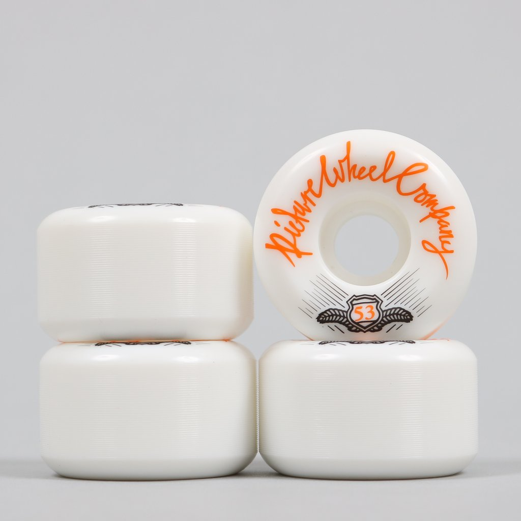 Picture POP Wheels 53mm White / Tangerine