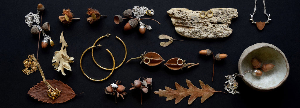 Unique jewellery handmade in the UK inspired by the natural world from Lewes Map Store.